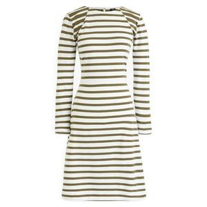 J.Crew 365 knit fit flare dress Green White Stripe